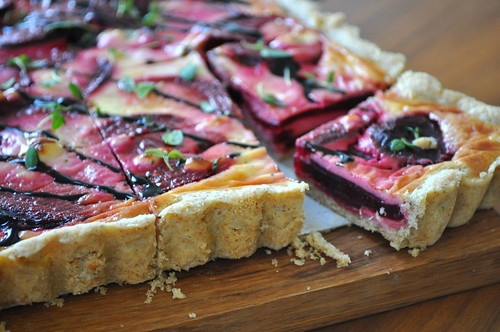 peedi-kitsejuustupirukas(beetroot and goat cheese tart)