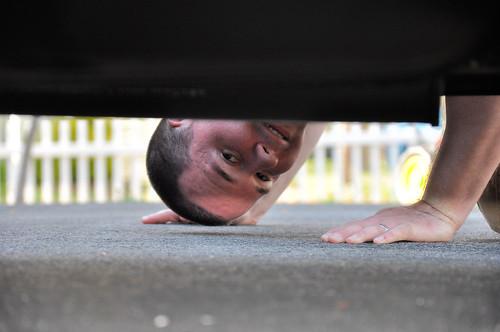 matt under car