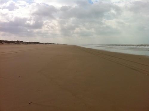 Camino de Sanlúcar por la playa