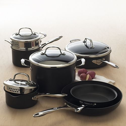 Food Network Hard Annodized 11 piece Cookware Set