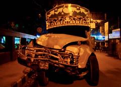 Broken Face (himagni) Tags: road broken face yellow truck star bumper vehicle headlight dhaka bangladesh tyre injured impaired mirpur fahim damagde fahim9n himagni