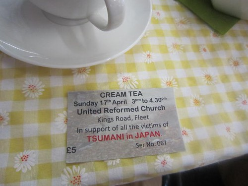 Cream tea ticket