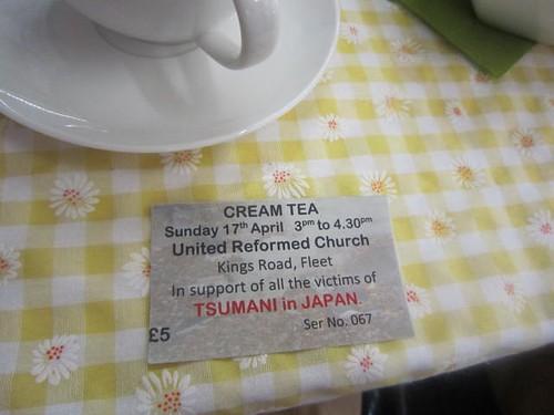Cream tea ticket