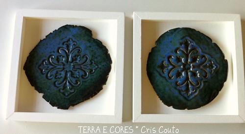 Medalhões - Verde Azulados by cris couto 73