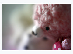 For you ** (©Marie Eve K.A.❦ (away..)) Tags: pink white closeup canon toy eos kiss doll soft dof bokeh pastel f14 85mm teddybear kawaii greeting softtoy planar easterrabbit happyeaster carlzeiss canoneoskissx2