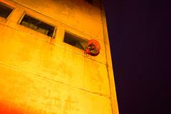 Propaganda (zanyflash) Tags: red lightpainting black rot abandoned window yellow night concrete nacht propaganda fenster lautsprecher creepy gelb speaker schwarz beton verlassen dwwg