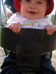 Smiling while Swinging