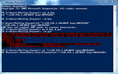 Windows PowerShell fail