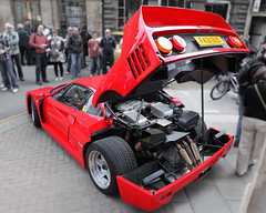 Ferrari F40, engine bay, detail, c1987 (Chappells10) Tags: italy cars car bristol unfound ferrari classiccars thoroughbreds maranello sportscars supercars carpics pininfarina carphotos italiancars ferrarif40 voituresanciennes worldcars canoneos5dmkii bristolitaliancarshow2011