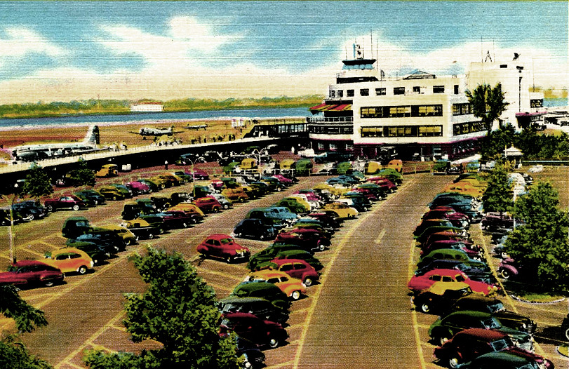 LaGuardia Airport, (New York Municipal Airport and LaGuardia Field), postcard from about 1956