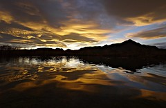 Liquid Sunset (Ph0tomas) Tags: trees sunset sky mountain lake newmexico water clouds sunrise reflections river landscape lumix pond g wideangle g1 mmountain 714 vario mygearandme ph0tomas