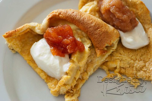 German Pancakes with Yogurt & Fruit Spread