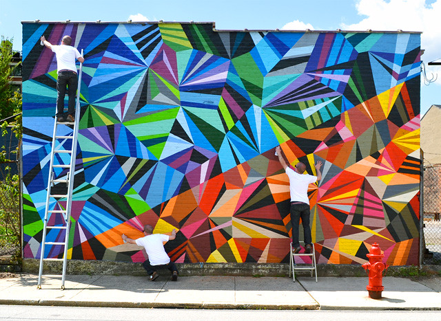 XYZ Axis Mural : Finishing Touches.