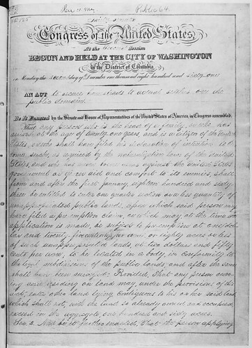 homestead act 1862. Act of May 20, 1862 (Homestead