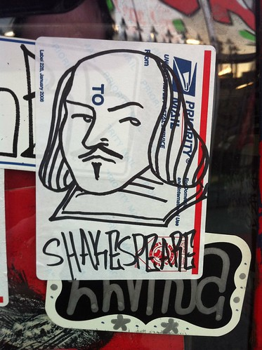 Shakespeare sticker