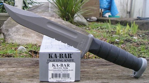 "KA-BAR Knives USMC Next Generation 7"" Combo Edge Blade with Kydex Sheath"