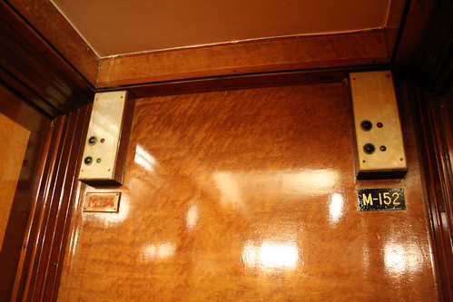 Queen Mary - Room M154 Is Really Room M134 (Original Nameplate Exposed)