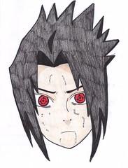 Sasuke (color) (hannaluvs2draw) Tags: naruto sasuke sharing