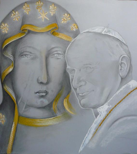 Madonna Nera di Czestochowa con Giovanni Paolo II by ColoseoIP