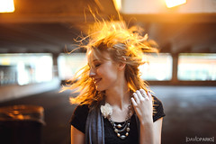 Kori (David Parks - davidparksphotography.com) Tags: david parks nikon d700 edmond okc oklahoma down town downtown girl smile face hair orange red head whip spin motion