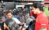 Anil Kumble at press conference in Bangalore
