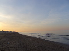 After a full day (simo884) Tags: sunset sea sky italy primavera beach coast seaside spring sand italia tramonto day mare waves sundown rimini full cielo april aprile spiaggia adriatic onde sabbia giorno pieno costaadriatica
