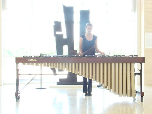 Marimbist Performing