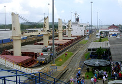 "Panama Canal - ""Nord Explorer"" and Gatun Locks (roger4336) Tags: canal ship lock norden panama colon panamacanal gatun gatunlocks 2011 canalzone nordexplorer"