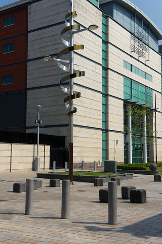 Public Art On Chichester Street, Belfast (maybe it is only a lamp standard)