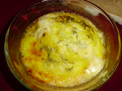 Baked egg and cheese
