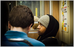 """What do you mean?"" (TheeErin) Tags: chicago guy hat youth train subway person hoodie cta publictransportation expression candid grand el transit traincar l redline rider upward disbelief dispair chicagoland chicagotransitauthority chicagoist ridership masstrans aggrivate"