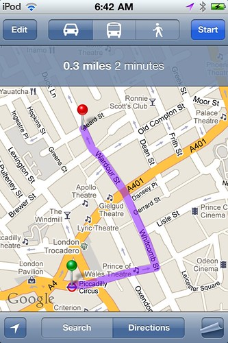 Directions to Wahaca
