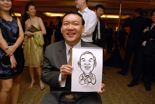 caricature live sketching for Great Eastern Achievers Nite 2011 - 5