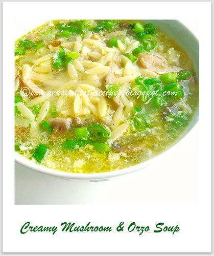Creamy Mushroom & Orzo Soup