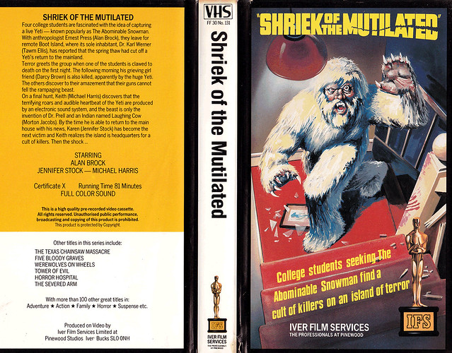 Shriek Of The Mutilated (VHS Box Art)