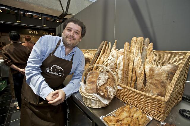 Paco Fernández en el viena La Baguette del Mercado de San Antón