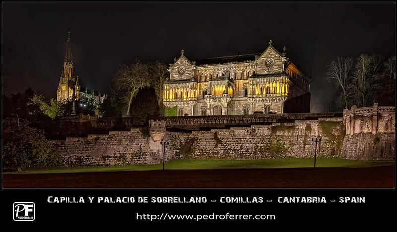 Comillas - Palacio y capilla de Sobrellano - Panoramica
