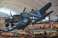 Steven F. Udvar-Hazy Center: Vought F4U-1D Corsair, with P-40 Warhawk in background