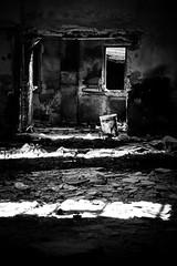 Nothing in ... (Tomas Pivovarnik) Tags: bw monochrome architecture ruins republic czech interior urbandecay urbanexploration urbex republika esk jchymov