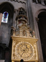astronomical CLOCK in a church (dimitra_milaiou) Tags: city shadow sculpture france art history church window stone architecture dark grey one 1 europe cathedral lyon sony tourist marble dimitra dscp93a    milaiou
