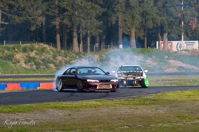 Walker Wilkerson and Rob Primo drifting at PGP.JPG