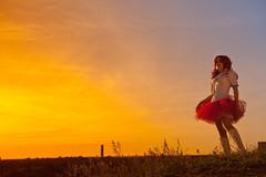Nippon no yūhi IX (Ole M. Werner) Tags: sunset berlin girl rock germany de costume gun sonnenuntergang cosplay skirt weapon nippon setup katana potsdam fukushima sailormoon schwert teufelsberg mayli g36 tüllrock olemwerner norafritz