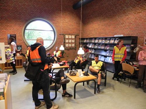 Visite d'une bibliothèque danoise