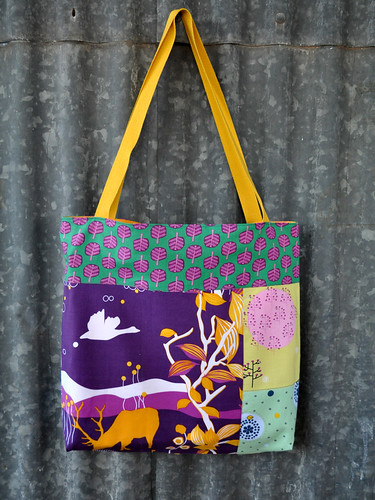 Tote/Library Bag Saffron prints 2