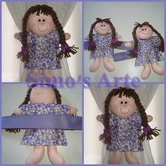 Menina segura cortina (Efeltro Borboleta) Tags: feltro seguracortina meninaseguracortina