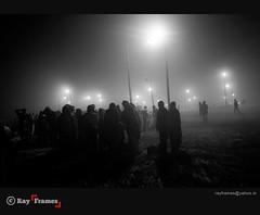 In Dark (Ray Frames) Tags: nightphotography light blackandwhite india night dark blackwhite nightshot blacknwhite sangam allahabad travelindia kumbhmela kumbh darkphotos matchpointwinner trivenisangam maghmela amitrayphotography