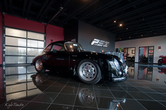 1958 Porsche Special in the lobby at PSI.JPG