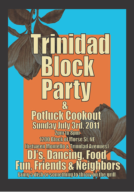 Trinidad Block Party Flyer (07-03-11)