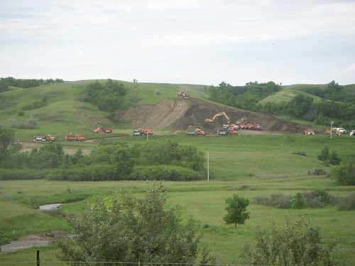 Digging clay from the Dakota foothills.