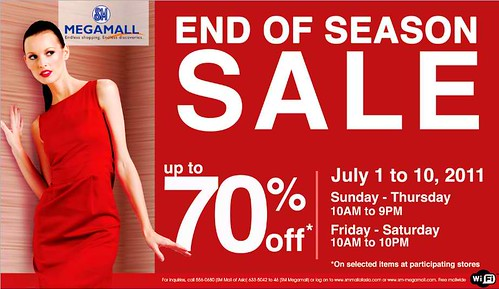SM Megamall End Of Season Sale July 2011